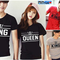 KAOS BAJU COUPLE OB NEW KING QUEEN