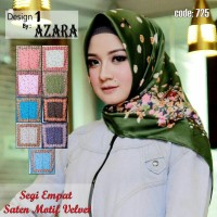 jilbab  segi empat azara motif velvet-krudung segi empat