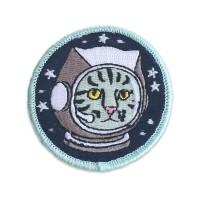 Astro Kitty 8x8Cm Patch Iron Tidak Custom Bordir EMBLEM