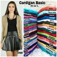 [Cardigan basic RO] cardigan wanita rajut var color