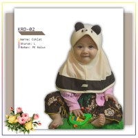 Jilbab Bayi - Kerudung Anak / Kerudung Anak KRD-02 - Coklat