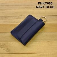 gantungan kunci mobil motor dompet kulit asli stnk simpel warna BIRU