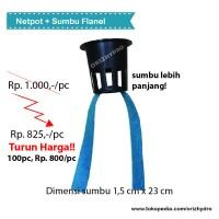Netpot dengan sumbu flanel