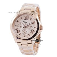 Jam tangan Fossil Wanita CECILE AM4511 Rantai Full Rose Gold Original