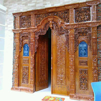 pintu rumah /Gebyok ukir kayu jati