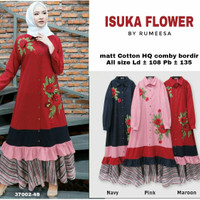 gamis dress isuka flower