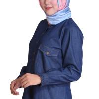 Blus Trendy Denim Fahira SM-LXL
