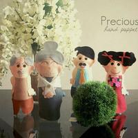 Hand Puppet Mainan Edukasi Boneka Tangan Karakter 1 set Keluarga