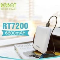 Robot powerbank RT7200 6600 mah power bank charger original