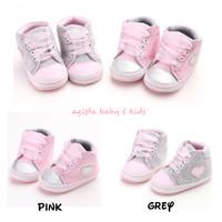 Sepatu Prewalker Sneakers Bayi Anak Perempuan Anti slip