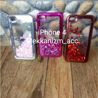 Gliter iPhone 4 4G 4S Softcase Water Glitter Cover Casing Soft Case