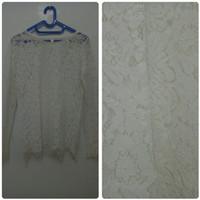 blouse brukat broken white