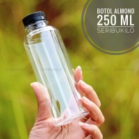 Botol Plastik 250 ml Almond PET + Botol Almond 250 ml - Putih