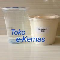 Gelas Kertas / Papercup es krim / Paper Cup ICe Cream 8 Oz Polos