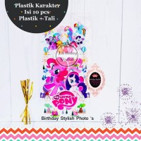 Plastik Snack/ Bingkisan Ulang Tahun Anak My Little Pony Sedang Isi 10