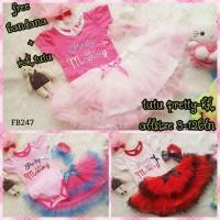 Setelan Jumper Rok Bayi Perempuan Merk Pink Tutu