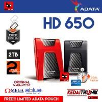 Harddisk External ADATA HD650 2TB HDD Hard Drive Eksternal ANTI SHOCK