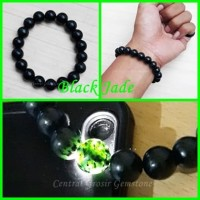 Gelang Kesehatan Asli Black Jade Stone Natural Berkhasiat Garansi