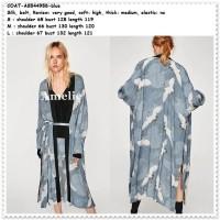 Long Outer Cardigan Kimono Panjang Wanita Korea Import AB544958 Swan