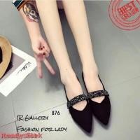 [PROMO] Sepatu Flat Shoes Wanita Gliter SDB.0102 Hitam