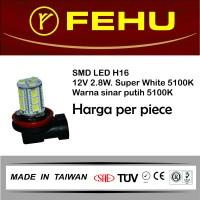 Fehu SMD LED H16 12V 2.8W Super White. Warna sinar putih 5100K