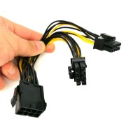 Kabel Power PCI-E PCIE 8 pin 8pin to Dual 8 pin (6+2) 8pin VGA molex