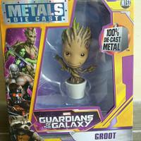 Jada figure guardian of the galaxy Baby Groot 4 inci diecast metal
