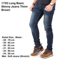 long skinny jeans thin brown / celana panjang jeans pria slim skinny