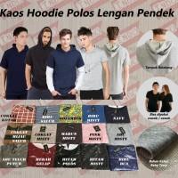 Hoodie Baju Kaos Hoodie Polos Pria/Cowok Lengan Pendek  ORLD
