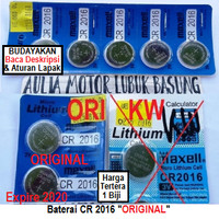 baterai remote alarm mobil ori maxell cr2016 cr 2016 toyota agya dll