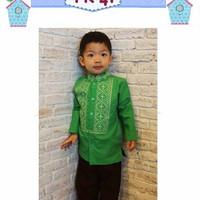 Koko Celana Flo Kids J| Baju Anak Import Muslim Set Baju Koko Kids FK