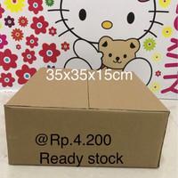 kardus /karton/box untuk packing murah meriah ukuran 35x35x15 cm