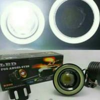 Led fog lamp angel eyes lensa Projector 76mm 89mm