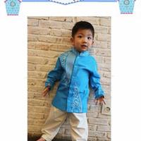 Koko Celana Flo Kids H| Baju Anak Import Muslim Set Baju Koko Kids FK