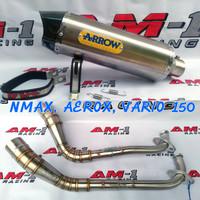 Knalpot Racing Arrow Yamaha NMAX Abs AEROX R 155 Vario 150 fullset