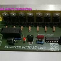 KIT/MODUL INVERTER DC 12-24 V TO AC 220 V-750 WATT murah