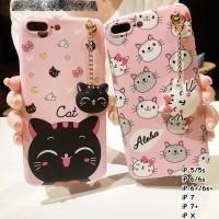 FOR IPHONE X, 5/5s, 6/6s, 6+/6s+ plus, 7, 7 plus - CUTE NEKO CAT CASE