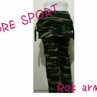 Celana senam ARMY ROK cotton super M,L,XL,XXL