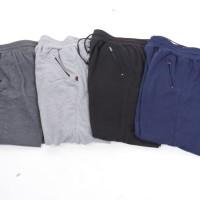 Dapat 3pcs] Celana panjang jogger button / Super quality / 4 warna