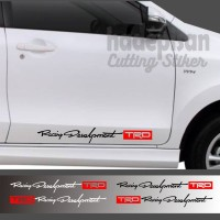 Stiker Mobil Cutting Sticker Kaca Body Mobil TRD Racing Development - Putih