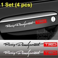 Stiker Gagang Pintu Handle Mobil TRD Racing Development