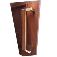 40cm Handle Pintu Tarikan Kuningan & Jati / Brass Door Pull - Mod Chic