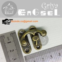 Kunci box / 30X25 / pengait kotak perhiasan /kunci tas dompet/souvenir