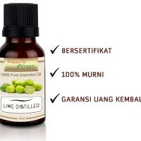 Happy Green Lime Distilled Essential Oil (10ml) Minyak Non Photo toxic