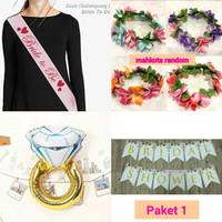 [Paket 1] Paket Bridal shower / bride to be