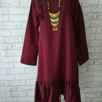 Blouse wanita big size murah/baju atasan wanita Xl/dress midi polos