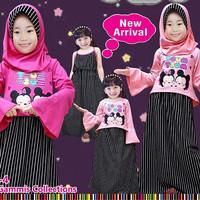 Setelan muslim anak / baju dress Little Pineapple