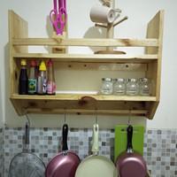 rak dinding dapur peralatan masak kitchen set kayu jati belanda