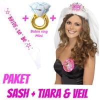 paket selempang mahkota tiara sash crown bridal shower bride to be
