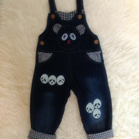 Overall Anak Overall Panda Import Termurah Real Pict